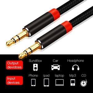 Image 4 - Lungfish AUX câble Jack 3.5mm câble Audio 3.5mm Jack câble haut parleur 1m 2m 3m 5 m pour iphone Samsung xiaomi voiture casque haut parleur