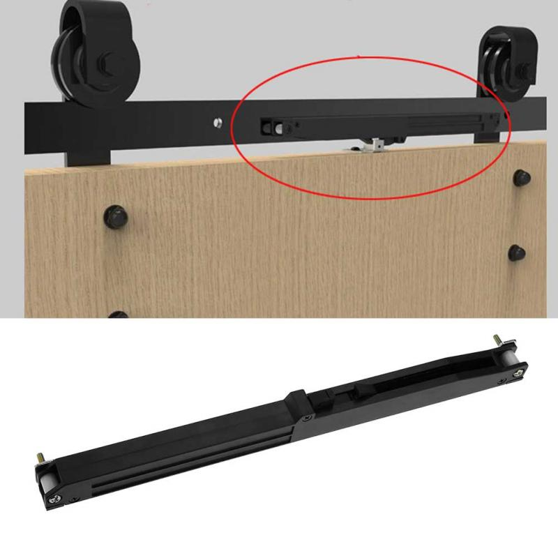 1set Door Slide Damper Soft Close Slides Mechanism Furniture Remission Accessory For Guide Sliding Rail Barn Wood Door Hot Sale Finely Processed