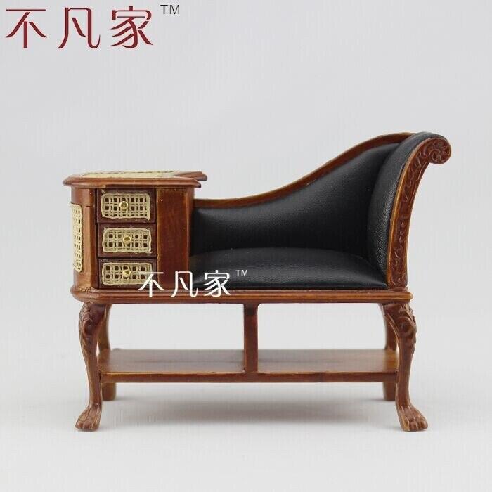 Maison de poupée offre spéciale à l'échelle 1:12 beau mobilier miniature chaise royale