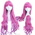 Nikki To Travel the world Pink Purple Mix Wave Long Cosplay Costume Wig Harajuku Wig Hair