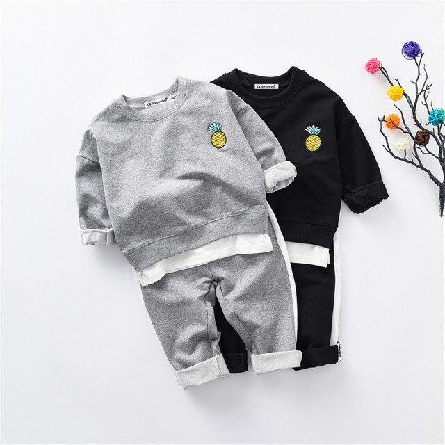 Children Outfits Tracksuit Fashion Clothing Children Hoodies + Kids Pants 2 pcs kids Sport Suit Boys Clothing Set