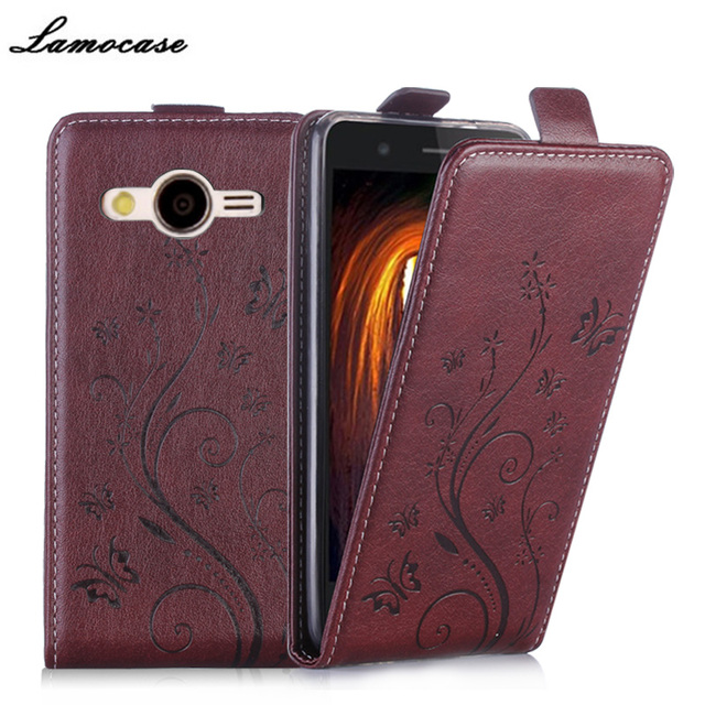 Leather Case For Samsung Galaxy Core 2 Dual SIM G355H SM-G355H G355 G3559 Vertical Embossing Flip Cover Phone Bags JRYH