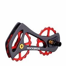 ROCKBROS  Bicycle Rear Derailleur Pulleys Wheel Carbon Fiber17T Bike Jockey Wheel For 6800 6870 9000 9070 Bicycle Parts