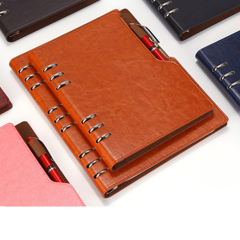 Notebook A5 B5 Leather Journal Annual Planner 2019 Spiral Agenda Personal Diary Binder Pocket Organizer For Stationery