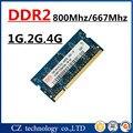 Venda 1 gb 2 gb 4 gb DDR2 800 mhz PC2-6400 memória ram do portátil, 2 gb DDR2 800 Mhz PC2 6400 memória notebook, memória ram ddr2 2 gb 667 pc2-5300