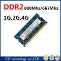 Venta 1 gb 2 gb 4 gb PC2-6400 DDR2 800 mhz memoria ram del ordenador portátil, 2 gb DDR2 800 Mhz PC2 6400 memoria portátil, memoria ram ddr2 2 gb 667 pc2-5300