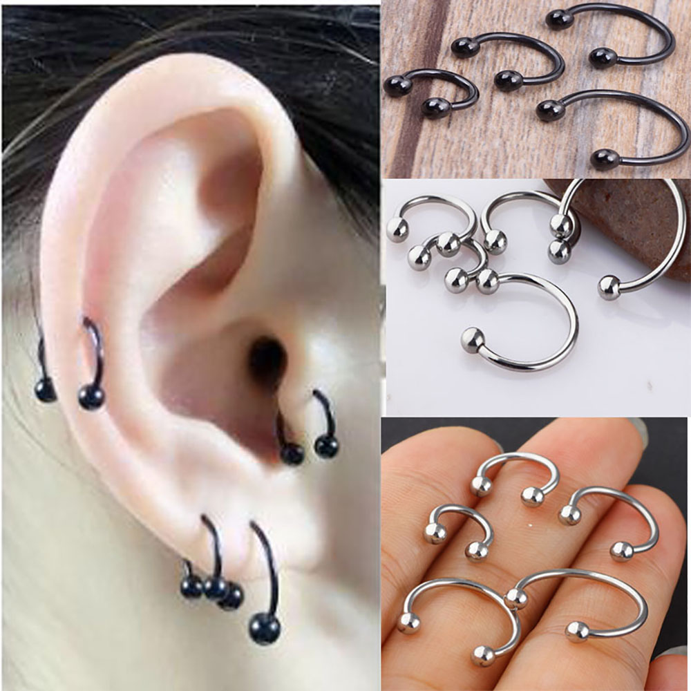 Jewelry Watches Body Piercing Jewelry 1pc 16g 14g Clear Bioflex