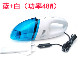 Retail !New arrival 60W Mini 12V High-Power Portable Handheld Car Vacuum Cleaner Blue+White Color fast free shipping via CPAM