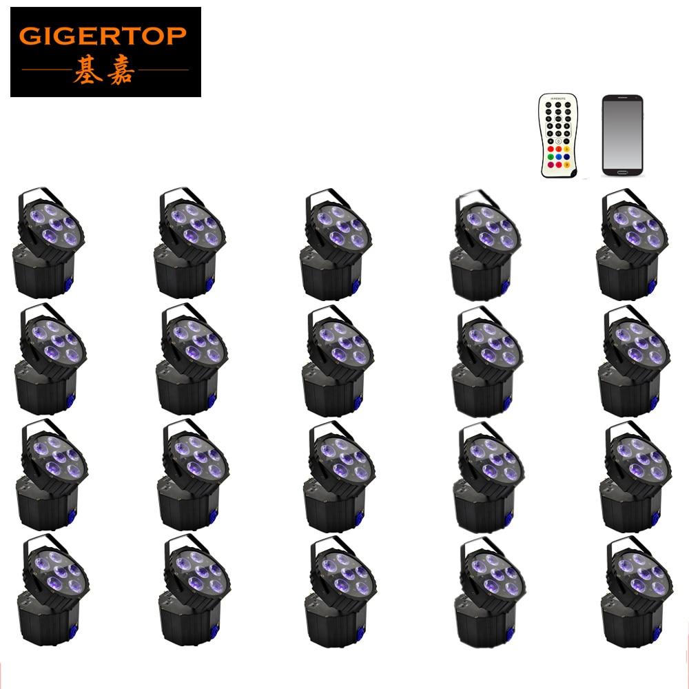 Freeshipping 20 Unit Disco Battery Powered DJ Light 6*18W DMX Control DMX&Wireless Control Sound Music LCD Display,Auto Run,DMX freeshipping 25pcs lot new disco light