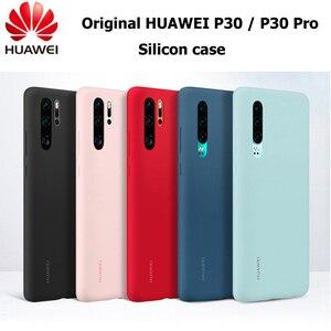 Image 1 - Original Huawei P30 P30 Pro กรณี HUAWEI อย่างเป็นทางการ Liquid ซิลิโคนป้องกันไมโครไฟเบอร์ด้านใน Huawei P 30 P 30Pro กรณี