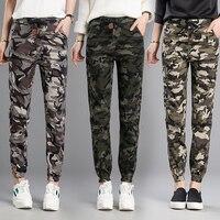 Frühjahr/sommer Neue Elastische Taille Einfach Freizeit Neun Punkte Camouflage Haroun Hosen Studentenbewegung Füße Hosen