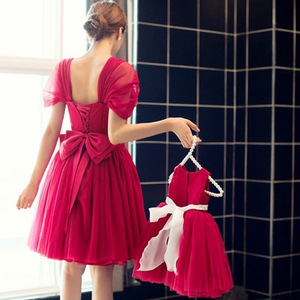 Image 5 - New Arrival Flower Girls Dresses Christmas Red Tulle Graduation Party Wedding Dresses with Flower Sash Formal Kids Gown