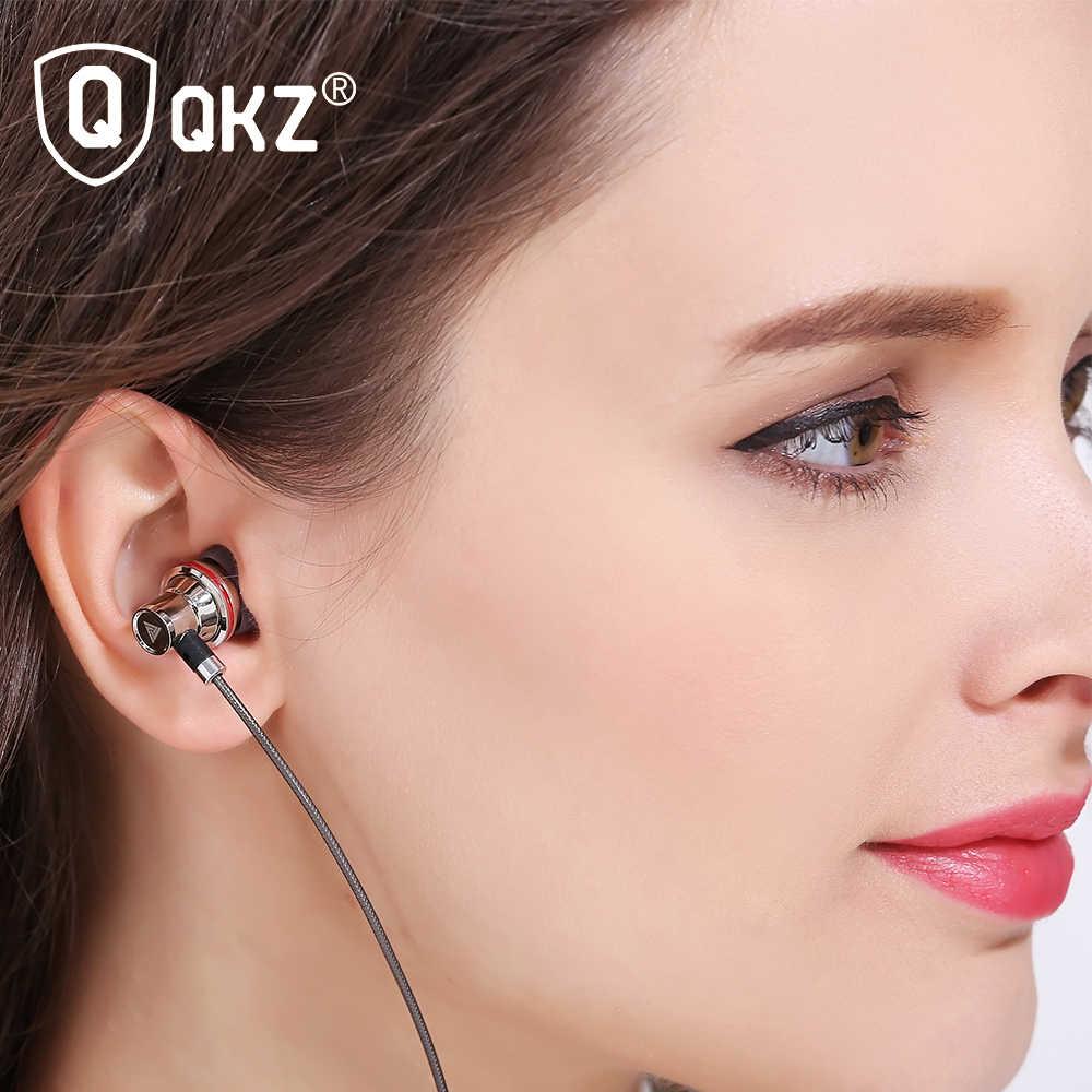 QKZ KD3 Earphones In-Ear Earphone Copper Audio Wired Stereo Bass Sound Headset Metal  With Mic 3.5mm Jack Earbuds audifonos
