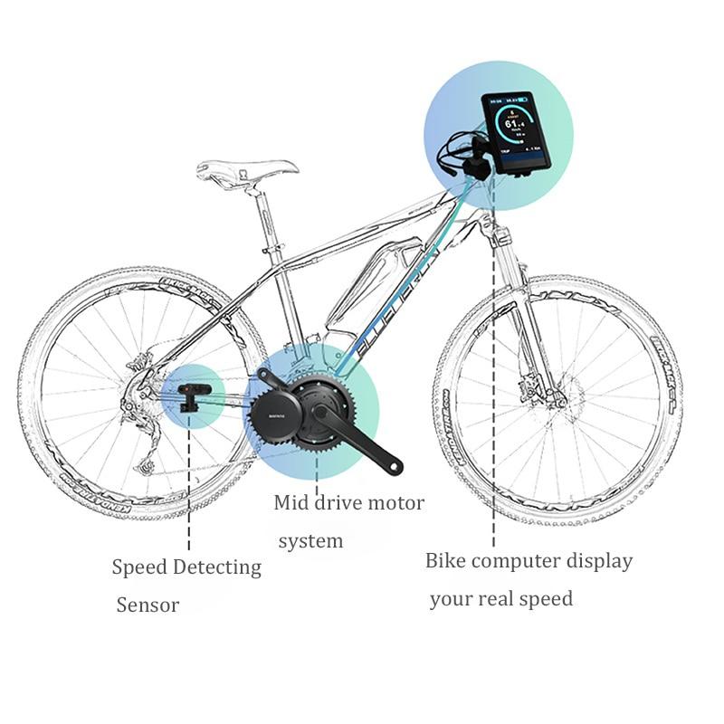 Bafang-Mid-Drive-Motor-48V-350W-BBS-BBS01B-Electric-Bike-Crank-Conversion-Kit-w-Gearshift-Light (1)