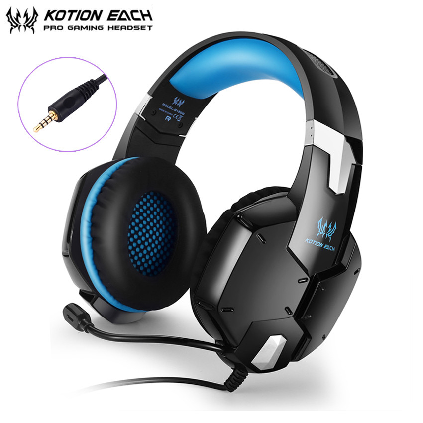 KOTION EACH G1200 Gaming Headphones 3.5mm Stereo Bass Headset with Mic for PC Laptop PS4 Gamepad New Xbox One Cell Phone Gamer