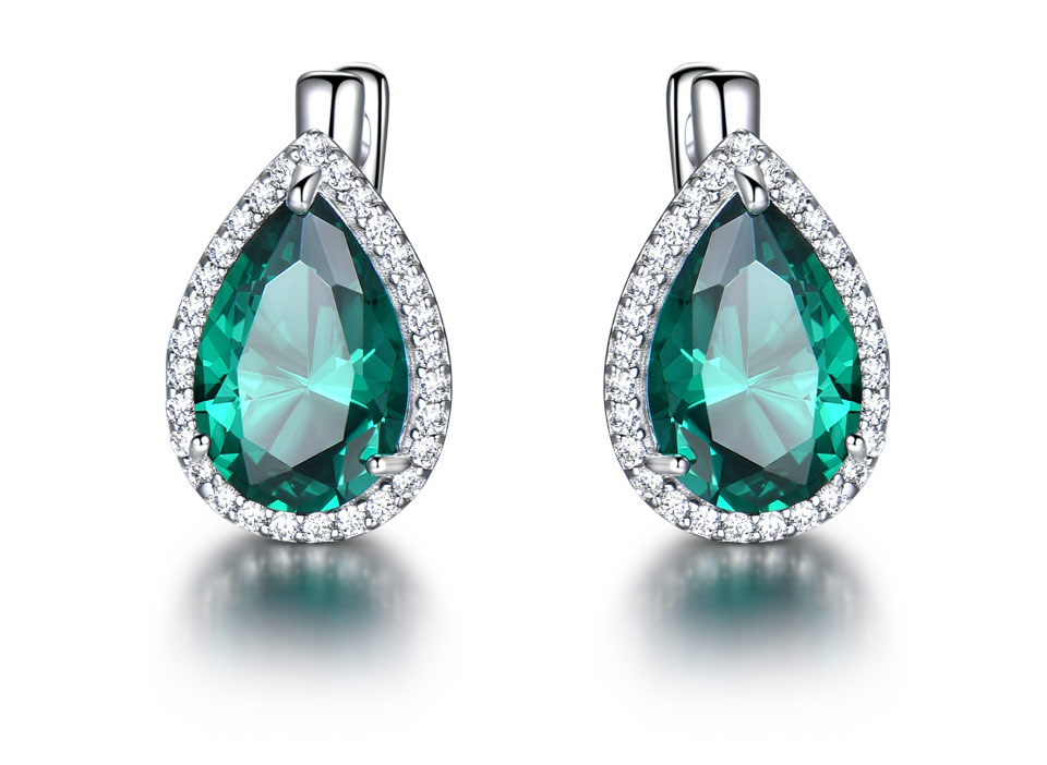 UMCHO-Emerald-925-sterling-silver-clip-earrings-for-women-EUJ087E-1-PC_02