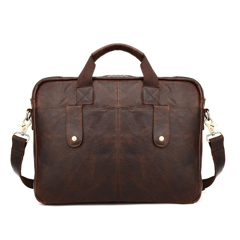 Vintage Real Genuine Leather Men Messenger Bags Cowhide Shoulder Bag Business Man Hand Bag Portfolios 14 Laptop briefcase men messenger bags man shoulder classic hand bag guaranteed 100