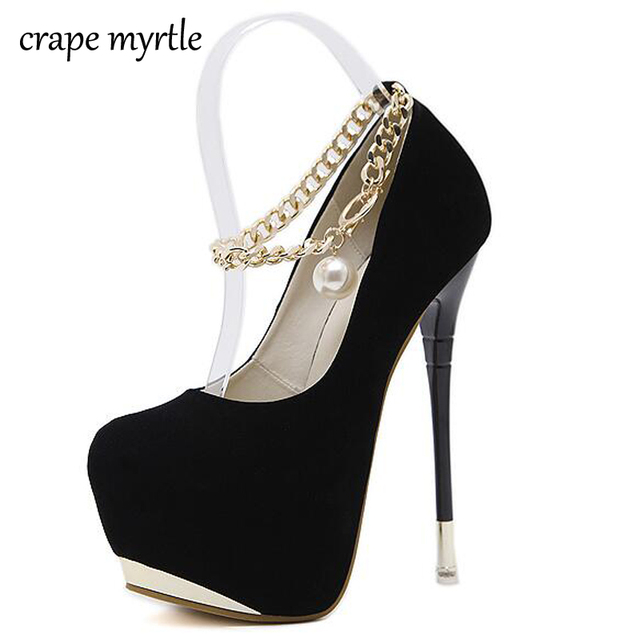 women s pumps ankle strap heels 16CM sexy High Heels shoes Pumps women heels  2018 Party Shoes Women Platform Pumps Shoes YMA111 259810f9bd54