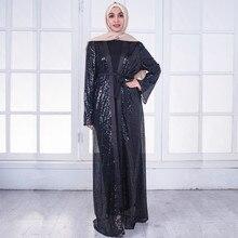 779f575946bc4a3 Мусульманское платье женское открытое черное одежда женщин мусульманских  стран Бангладеш турецкий хиджаб платье исламский Рамада..