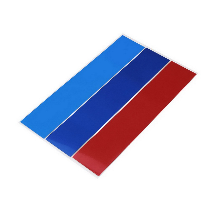 Hot! 1pc Grille Sport Stripe 3 Colors Decal Vinyl Sticker For BMW M3 E39 E46 E90 High Quality free shipping~