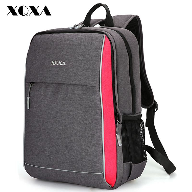 1274a9d266a9 XQXA Waterproof Women Backpack for School Teenagers Front Removable Casual  Daypack Unsex Backpack 15Inch Computer Bags Rucksack