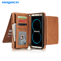 Xnyocn Luxury Leather Cover Wallet Capinha Coque Flip Case for Samsung Galaxy S7 edge Case S8 S7edge Cover S8 Plus Case