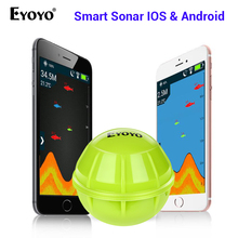 Eyoyo E1 Smart Fish Finder Sonar Echo Sounder Sea Lake Fishing Detect for iOS Android App Fishfinder Wireless Sonar Fish Finder bluetooth fish finder sea fish detect device for ios for android 25m 80ft sonar fishfinder wireless fishing detector top quality