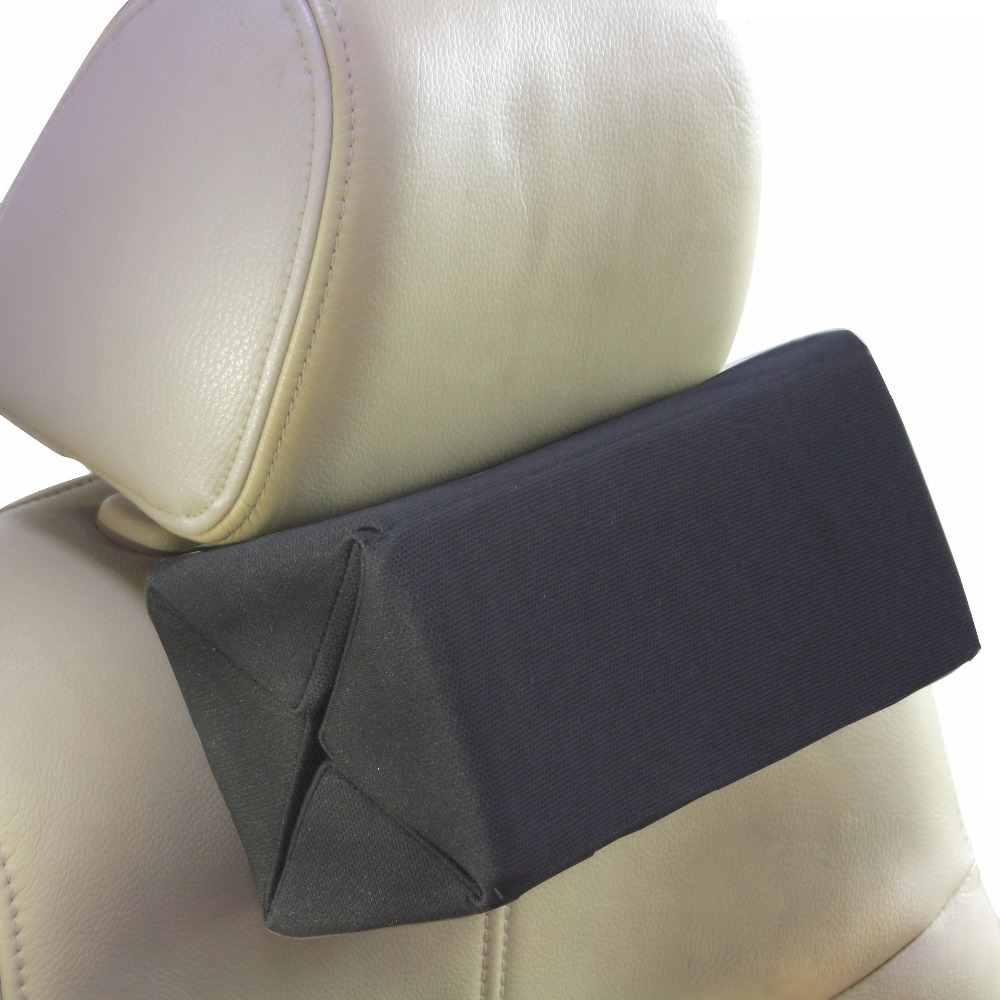 Extensible headrest pillow for car slow rebound seat lumbar support soft chair back support