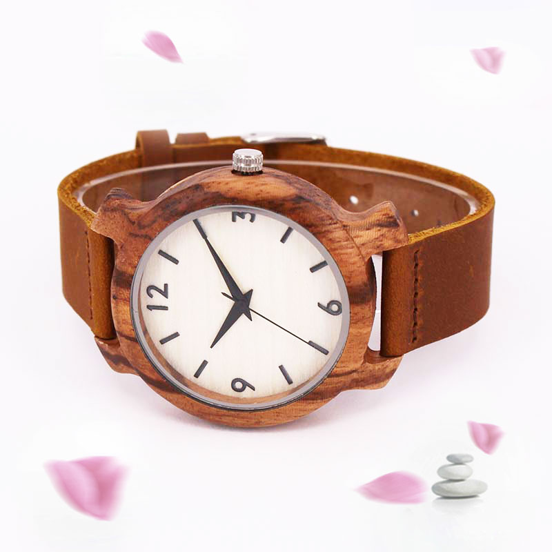 лучшая цена SIHAIXIN Men Leather Watch Top Brand Luxury Wood Watches Dropshipping 2018 Fashion Bamboo Wooden Case Wristwatch With Numbers