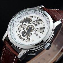 2016 WILON Мода Марка Высший Сорт Роскошный Автоматический Часы высокого качества Кожаный Ремешок Мужские Часы relojes hombre marca famosa
