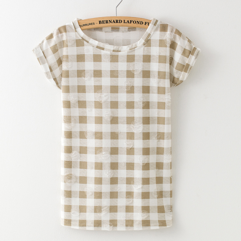 HTB1uSUtPFXXXXXnapXXq6xXFXXXs - T shirt Ladies short sleeve star print vintage casual T-shirt