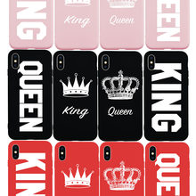 NEW Style KING QUEEN Crown Cute Fashion Soft Case for iPhone 7 7Plus 8 8Plus 6 6s Plus 5 5s SE X Xs Max XR Phone Cover Coque(China)