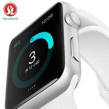 เส้าหลินบลูทูธสมาร์ทนาฬิกา1:1 S Mart W Atchสำหรับip hone a pple IOS A Ndroidมาร์ทโฟนดูเหมือนว่าแอปเปิ้ลดูR Eloj Inteligente
