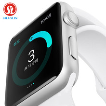 Shaolin 1:1 smartwatch bluetooth reloj inteligente para apple iphone ios android smartphones parece apple watch reloj inteligente