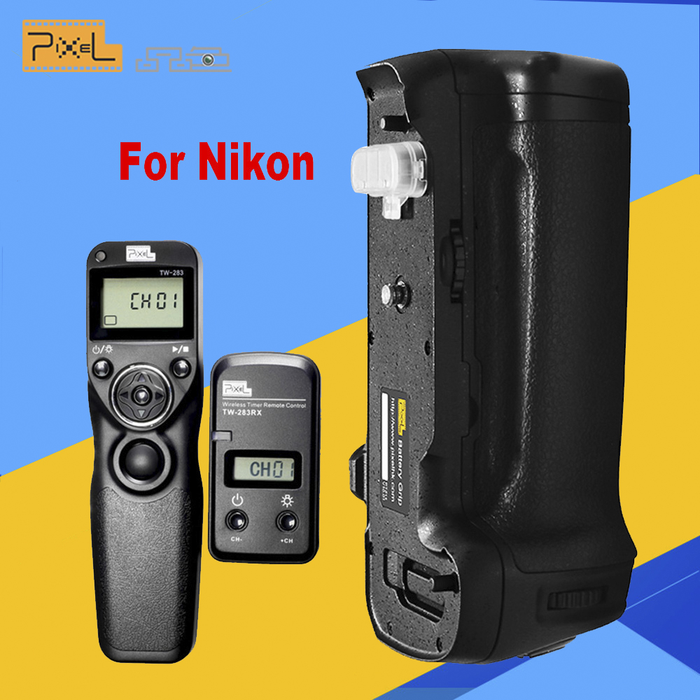 PIXEL Vertax D17 Battery Grip D-17 for Nikon D500 DSLR Cameras + Pixel TW-283/DC0 Wireless Timer Shutter Release For Nikon eachshot mb d17 replacement battery grip for nikon d500 digital slr cameras en el15 battery as the mk d500 battery grip