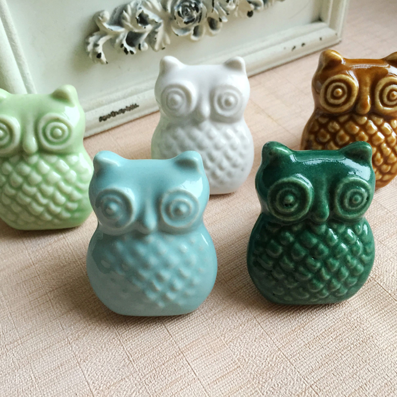 Aliexpress.com : Buy Owl Shape Ceramic Cabinet Knobs, Drawer Pulls ...
