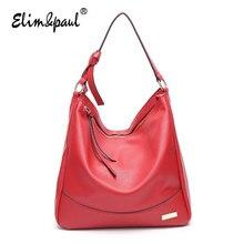 ELIM&PAUL Women Leather Handbags Women Messenger Bags Bolsa Feminina Shoulder Bag Crossbody Bags For Women Tote Bag Vintage 8085