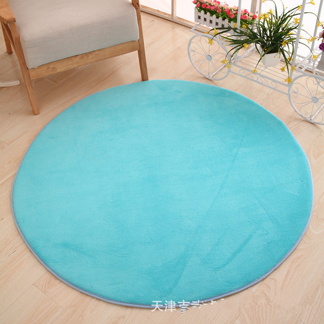 Solid Color Carpet Rugs Japanese Modern Style Thick Tapete Soft Fur Big  Round Floor Carpet Living