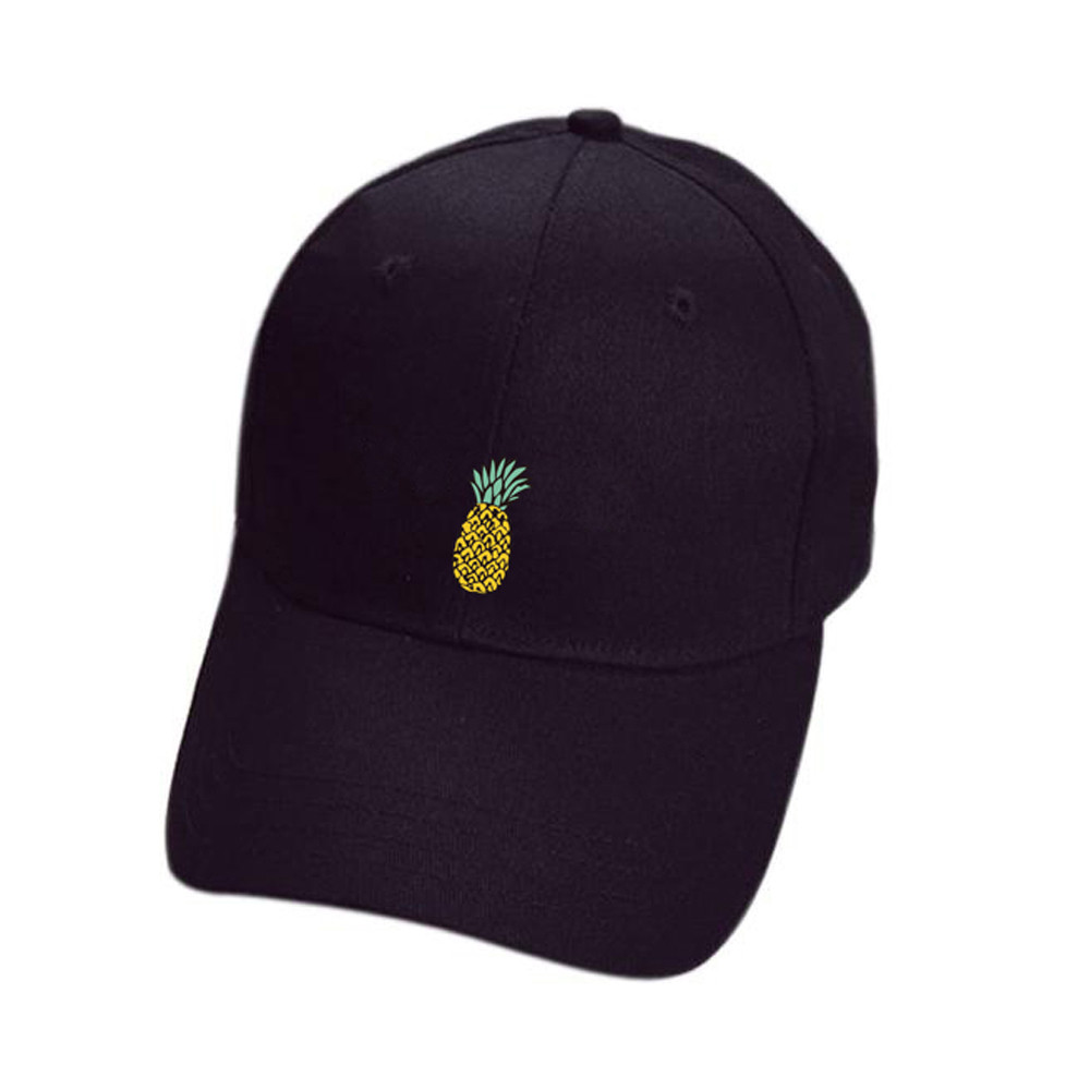 Cute Pineapple Baseball Cap women men cotton snapback Hip-Hop Adjustable Peaked Casual hats gorras para hombre#pingyou(China)