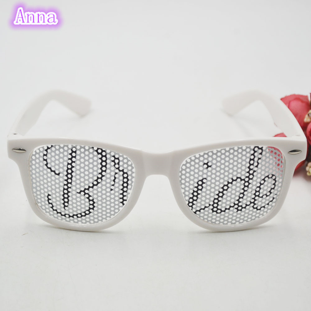 1pc Bride & Groom white Party Sunglasses Party Favors Bridal ...