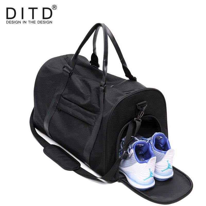DITD Hot hommes sacs de voyage voyage sac de bagages en Nylon grande capacité sacs à main sac décontracté épaule sac de sport bagage d'entraînement