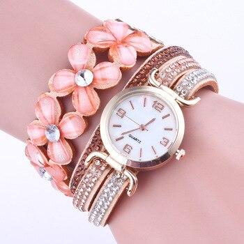 2019 New Fashion Acrylic Bracelet watch Women Luxury Brand Crystal Leather Wrist Watches Ladies Quartz Watch Clock bayan saat