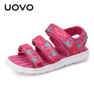 Image 3 - UOVO 2020 Summer Kids Sandals Boys And Girls Slides Children Summer Beach Sandals New Arrive Little Kids Shoes Eur Size #25 37