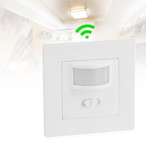 Image 1 - Infrarood PIR Bewegingssensor Schakelaar PVC Verzonken Muur Lamp Switch On/Off en PIR Schakelaar Gloeilamp Schakelaar assortiment