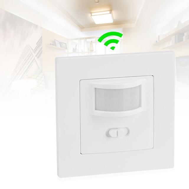 Infrarood PIR Bewegingssensor Schakelaar PVC Verzonken Muur Lamp Switch On/Off en PIR Schakelaar Gloeilamp Schakelaar assortiment