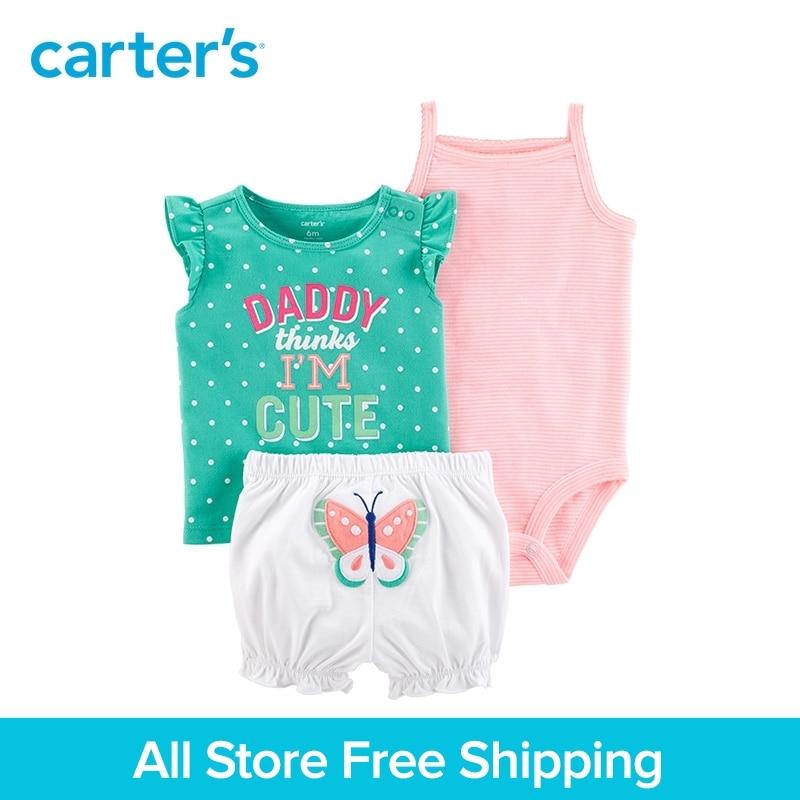 Carters 3-Piece baby children kids clothing Girl Summer polka dots Little Short Set 121I411 ...