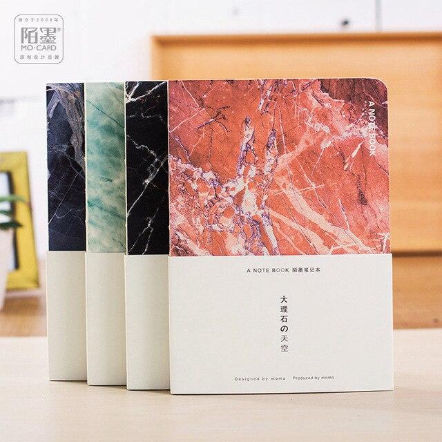 Super Japonais Papeterie Marbre Ciel A5 Blank Pages Notebook Journal DIY  GH98