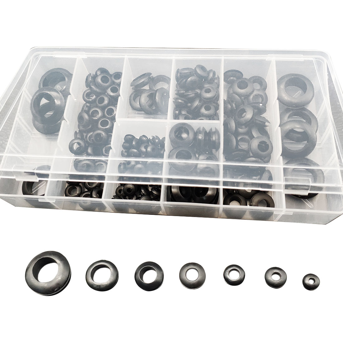 180Pcs/Box Rubber Grommet 8 Popular Sizes Grommet Gasket For Protects Wire Cable & Hose Custom Part Rubber Seal Assortment Set180Pcs/Box Rubber Grommet 8 Popular Sizes Grommet Gasket For Protects Wire Cable & Hose Custom Part Rubber Seal Assortment Set