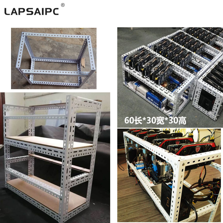 Lapsaipc Custom Steel coin Stackable Open Air Mining Rig miner Computer Fame Case without fansLapsaipc Custom Steel coin Stackable Open Air Mining Rig miner Computer Fame Case without fans