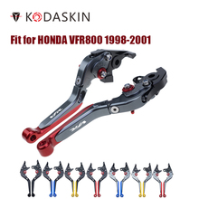 KODASKIN Brake handle Clutch Levers for HONDA VFR800 1998-2001 Adjustable Folding Extendable Motorcycle